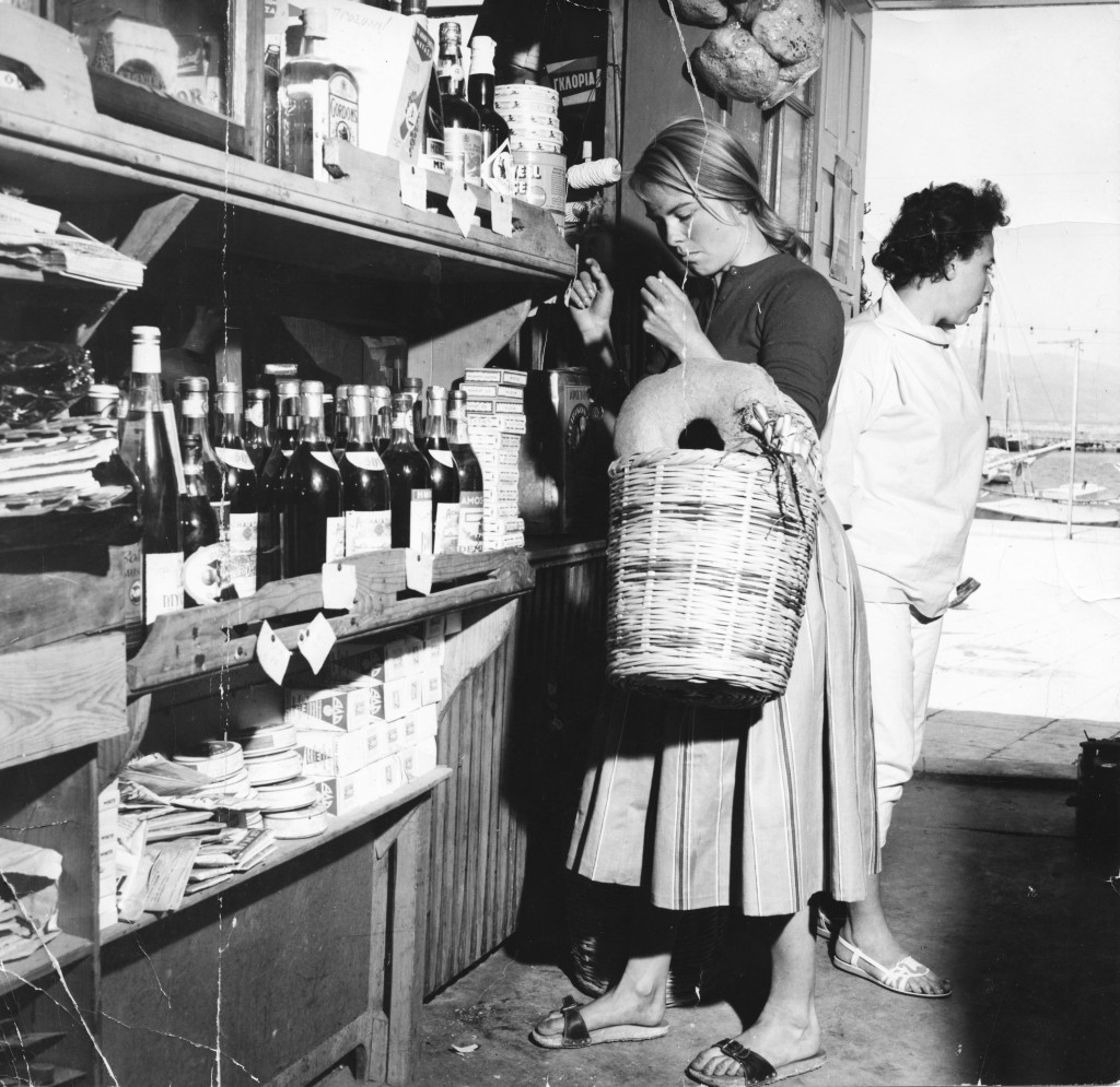 Hydra sommeren 1958 Handler hos Katzikaz
