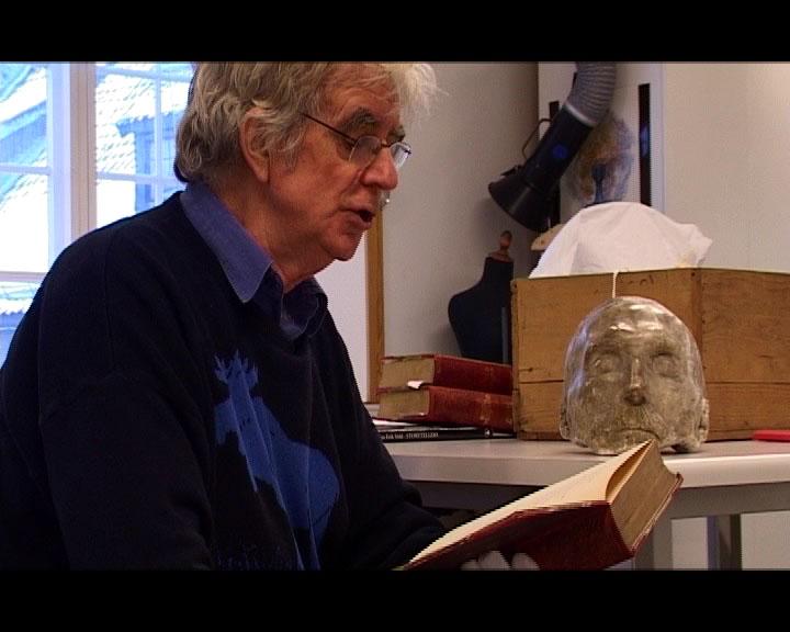 Jan Erik ved Wergelands dødsmaske