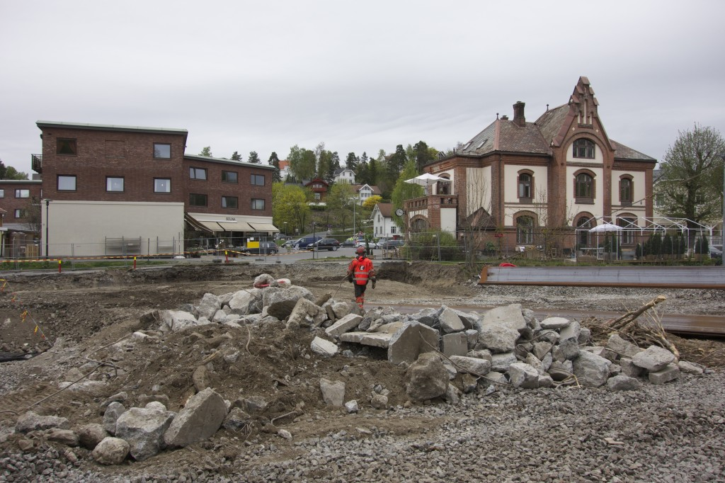 Stabekk stasjon, graving mai 2014